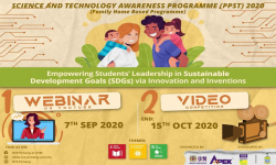 VIDEO COMPETITION : EMPOWERING STUDENTS' LEADERSHIP IN SUSTAINABLE DEVELOPMENT GOALS (SDGs) VIA INNOVATION AND INVENTION 2020
